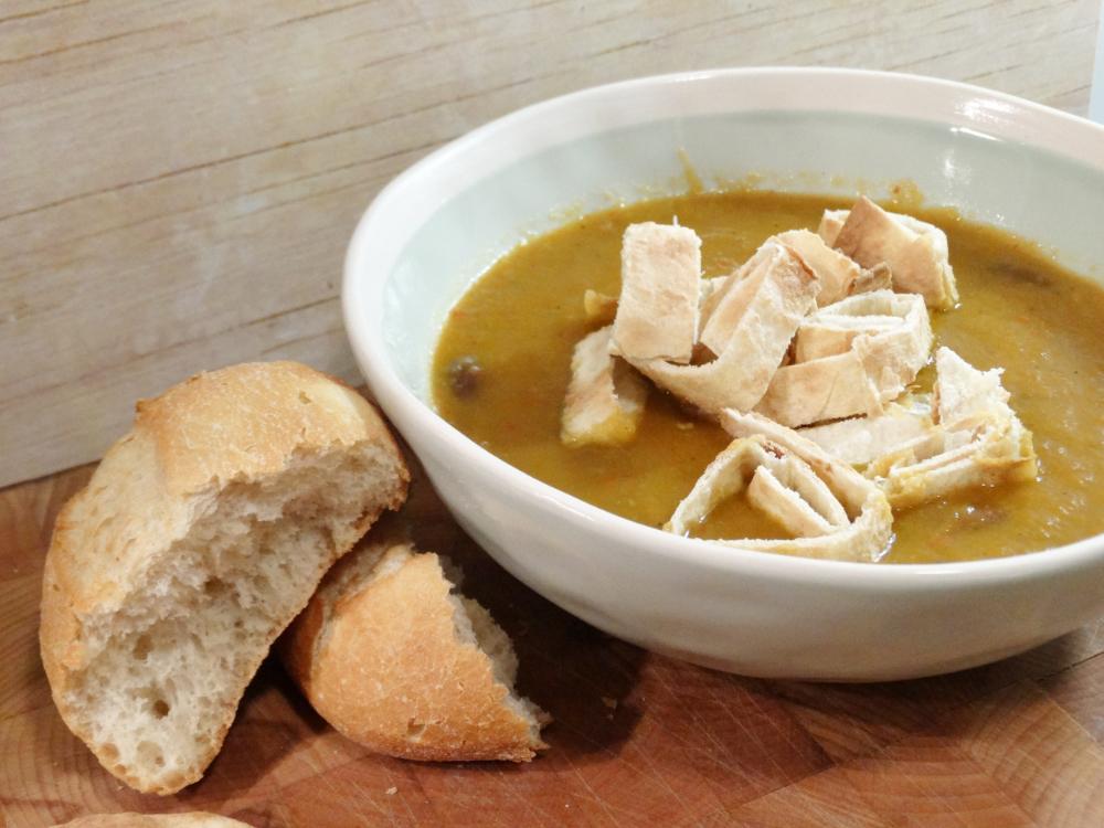 Wortel-Paprika Soep met Kidney Bonen