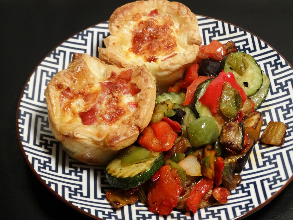 Mini-Quiche Ham en Tomaat